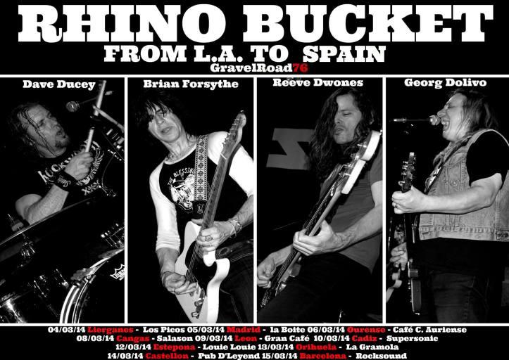 Rhino Bucket gira española 2014